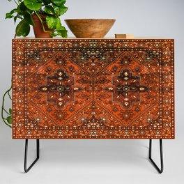 N151 - Orange Oriental Vintage Traditional Moroccan Style Artwork Credenza