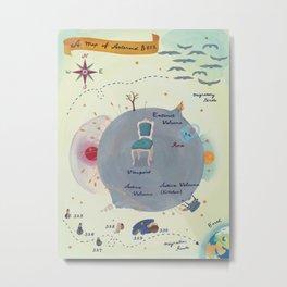 Little Prince Asteroid B612 map Metal Print