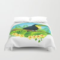 toucan Duvet Covers featuring toucan by Li-Bro