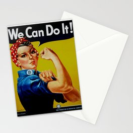 We Can Do It - WWII Poster Stationery Cards