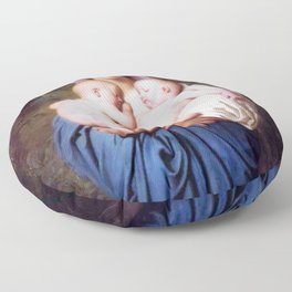 William-Adolphe Bouguereau - Charity Floor Pillow