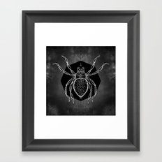 Spider Vignette Framed Art Print