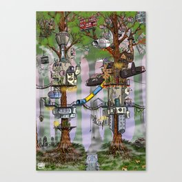 Modern Pixie Kingdom Canvas Print