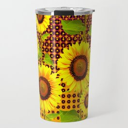 SPICE BROWN SUNFLOWERS ART Travel Mug