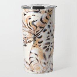 Cute Stretching Bengal Kitten Travel Mug