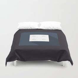 """Dice """"four"""" with long shadow in new modern flat design Duvet Cover"""