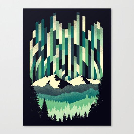 Sunrise in Vertical - Winter Blues Canvas Print