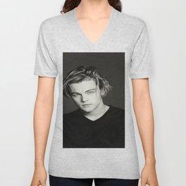 Leonardo DiCaprio Portrait Unisex V-Neck