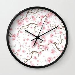 Flowering Branch Wall Clock