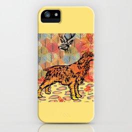Hunting dog pop art iPhone Case