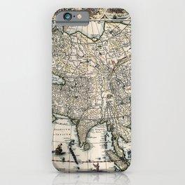 Vintage Map Print - Asia Novieter Delineata; 1617 Map of Asia iPhone Case