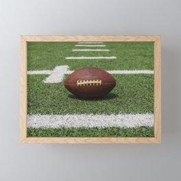 American Football Court with ball on Gras Framed Mini Art Print