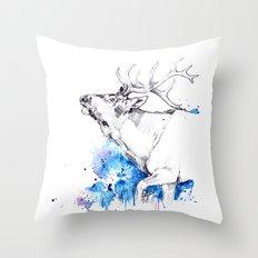 Elk's Whisper II Throw Pillow
