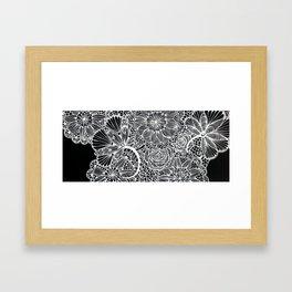 lace inspired Framed Art Print