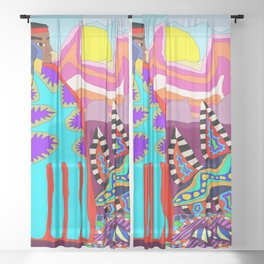 Indian Summer Sheer Curtain