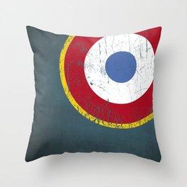 Cocarde de Armée de l'Air Throw Pillow