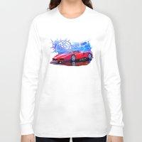 ferrari Long Sleeve T-shirts featuring Ferrari Enzo by JT Digital Art