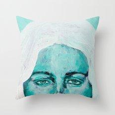 Mint Girl Throw Pillow
