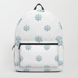 Blue Glitter Snowflake Backpack