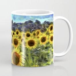 Sunflower Fields Of Dreams Van Goth Coffee Mug