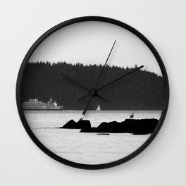 Ferry at the San Juan Islands Wall Clock