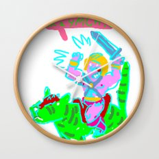 Masters of the universe of love 1 Wall Clock