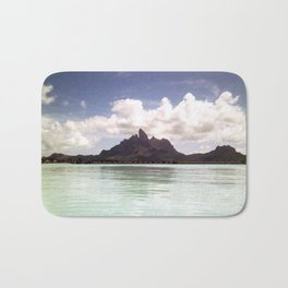 Bora Bora Tahiti Mountain Scape Bath Mat