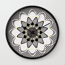 Floral Or Star Wall Clock
