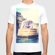Fountain of Trafalgar MEDIUM White Mens Fitted Tee