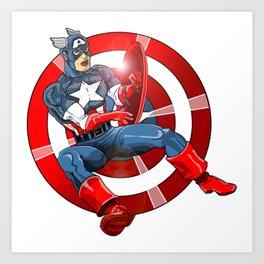 Captain America - Win or Lose Art Print