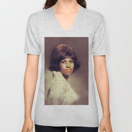 Aretha Franklin, Music Legend Unisex V-Neck
