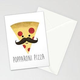 Popparoni Pizza Stationery Cards