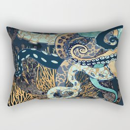 Metallic Octopus II Rectangular Pillow