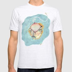 GRANDES PENSAMIENTOS SMALL Ash Grey Mens Fitted Tee