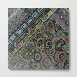 An abstract textured pattern in Oriental style . Metal Print