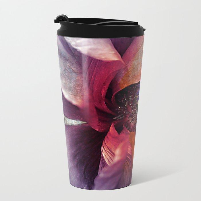 Abstract poppy(2). Metal Travel Mug
