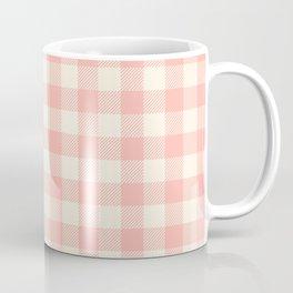 PASTEL GINGHAM 02, blush pink squares Coffee Mug