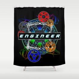 Engineer Gear Shower Curtain