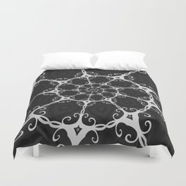 Dark Mandala #3 Duvet Cover