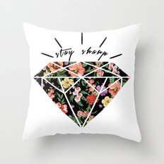 Stay Sharp! Throw Pillow