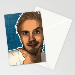 Pewdiepie youtube star Stationery Cards