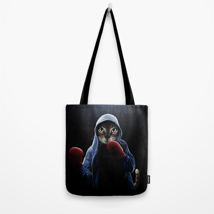 Boxing Cool Cat Tote Bag