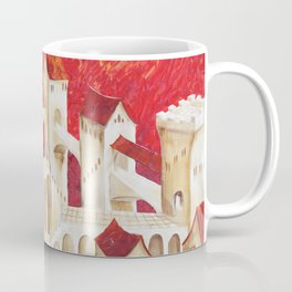 Surrealism old castle in Italy by Ksavera Coffee Mug