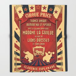 CIRQUE PRICE ROUGE Throw Blanket