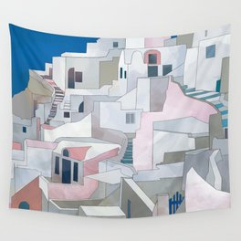 greece houses santorini Wall Tapestry
