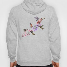 Hummingbirds Feeding Hoody