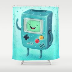 Game Beemo Shower Curtain