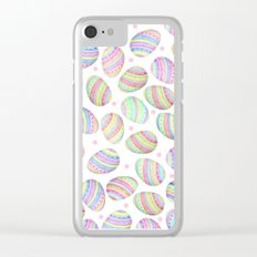 Easter Eggs Clear iPhone Case
