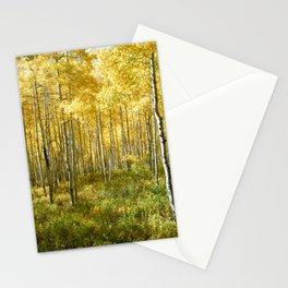 Yellow Aspens II Stationery Cards