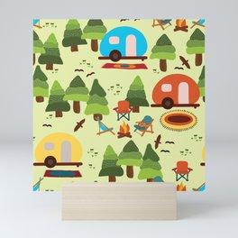 Caravan Campground Vacation Mini Art Print